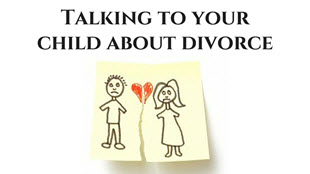 talking divorce children